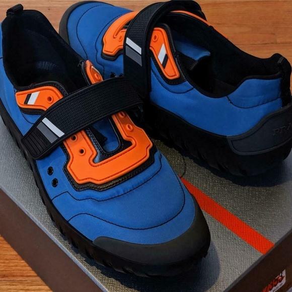 Mens Nylon Colorblock Scuba Sneakers